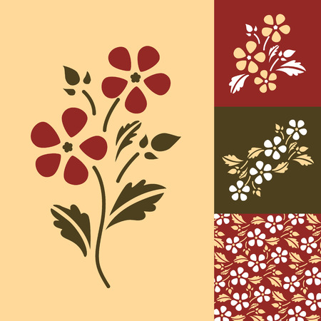 Abstract floral background. Spring. Vector