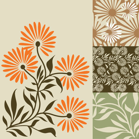 Abstract background with nature theme Vector