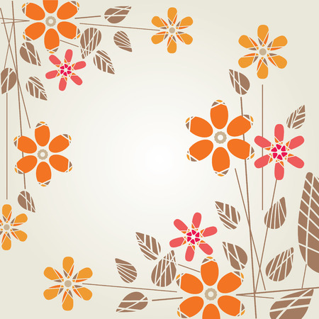 Abstract, modern background with flowers Vector