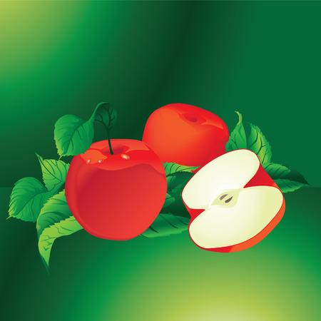 Red Apples, Fresh Fruit Vector