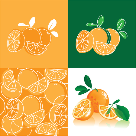 Orange, abstract background with oranges Vector