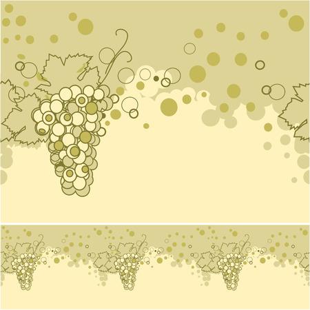 Naadloze van witte wijn, champagne  Vector Illustratie