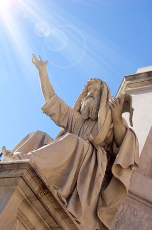 moses: marble statue, Rome