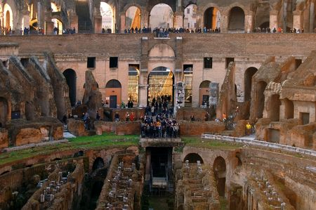 Arena inside Colosseum Rome, Italy Stock Photo - 6592054