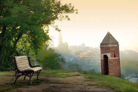 View of Belgrade from Kalemegdan Fortress Standard-Bild