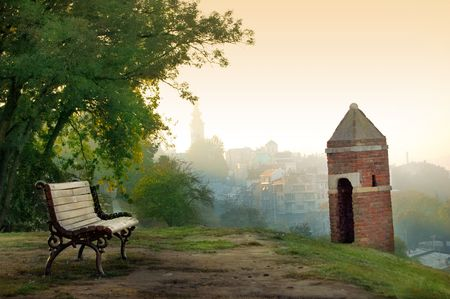 serbia: View of Belgrade from Kalemegdan Fortress Stock Photo