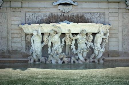 Detail of fountain in Vienna photo