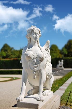 Belvedere park statue, Vienna photo