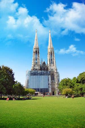 The Votivkirche in Vienna, Austria photo
