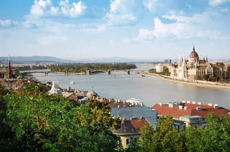 Panoramic view of Budapest photo