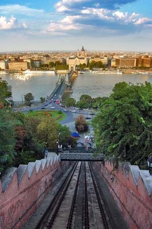 Budapest, view from Buda Castle funicular photo
