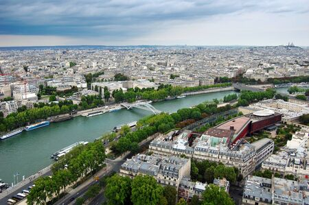 Panoramic view of Paris from Eiffel tower  photo