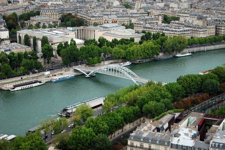 View of river Seina and Paris photo