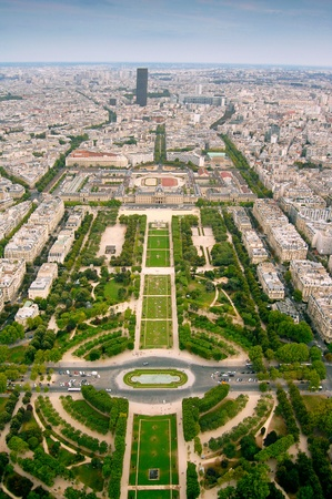 Champ-de-Mars view from Eifell tower photo