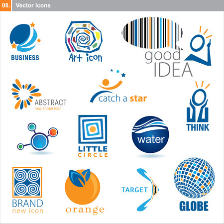 corporate social: icons &acirc,%uFFFD%uFFFD different design  Illustration