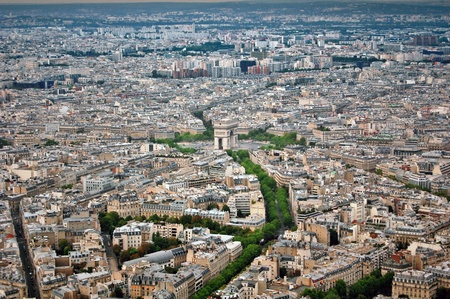 Arc de Triomphe and Paris panorama photo