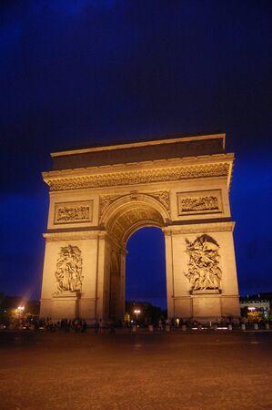 Arc de Triomphe by night, Paris photo