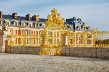 Golden gate of Versailles Palace, France Standard-Bild