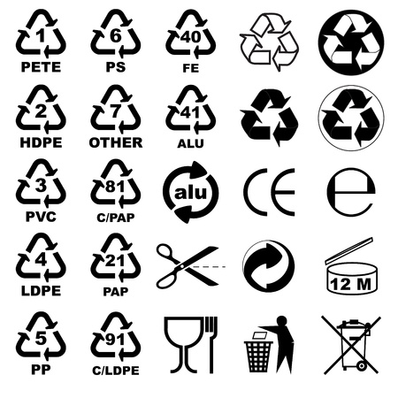 Packaging icons for designers Illustration