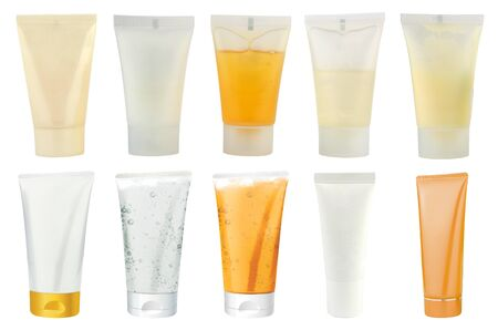 Cosmetics packs and tubes