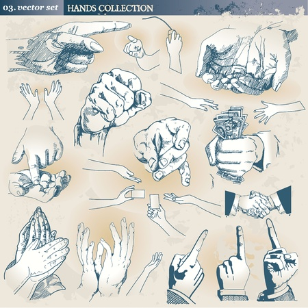 pointing finger pointing: Hands collection