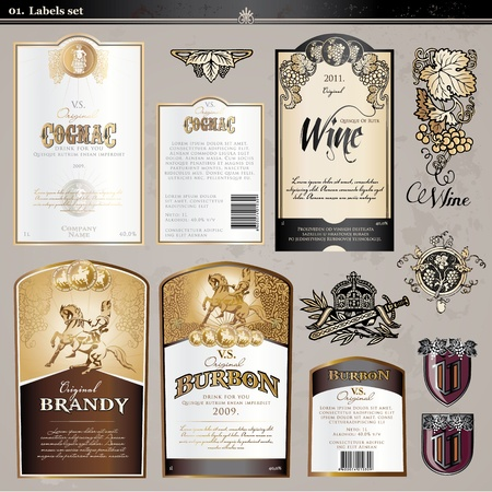 cognac: Labels set