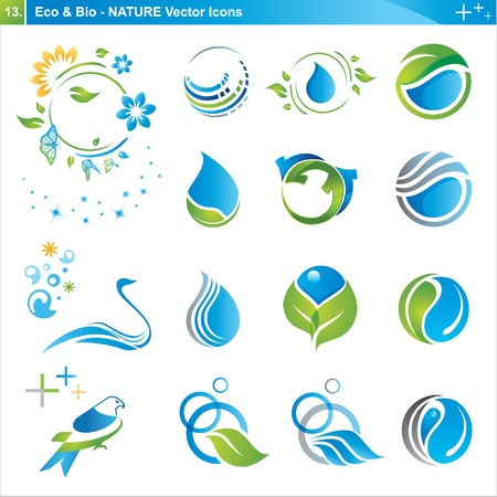 eco tourism: Icon design elements