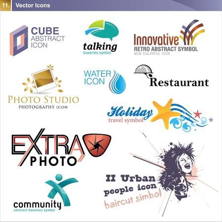 haircare: Icon design elements
