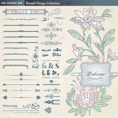 Vintage collection  Vector