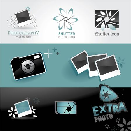Photo icons set Stock Vector - 9933240