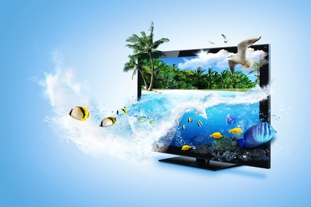 lcd tv: 3D TV - feel the nature