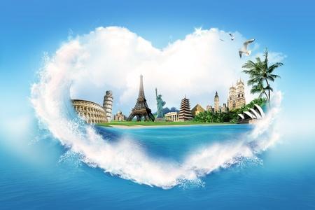 vacation: I love to travel  Stock Photo