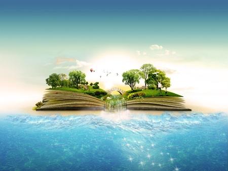 Livre de la nature  Banque d'images - 10101256