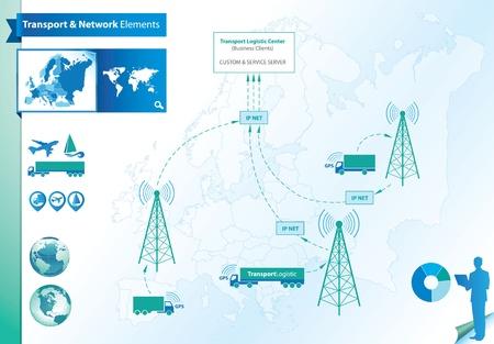 gps navigation: Elementos log�sticos y transporte  Vectores