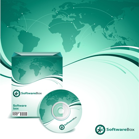 dvd: Software box Illustration
