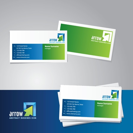 blank business card: Business card vector template