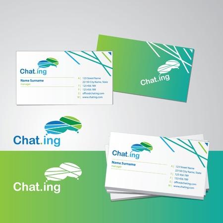 tarjeta de presentacion: Plantilla de dise�o de tarjeta de presentaci�n Vectores