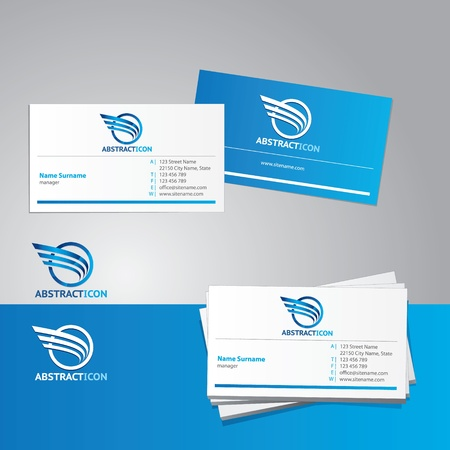 stationary set: Vector business card template