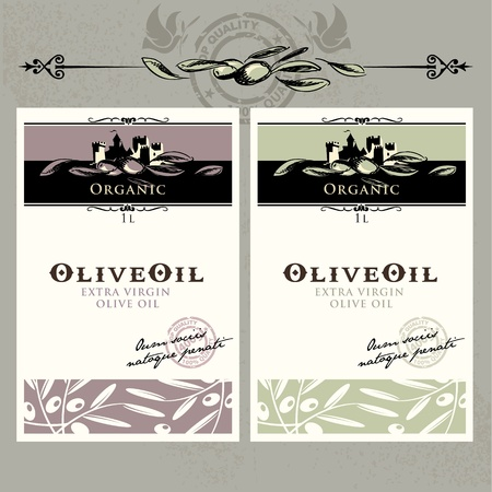 Set of olive oil labels Stock Vector - 10438792