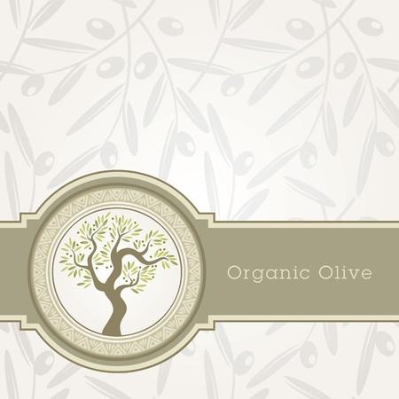 black olive: Olive oil label template
