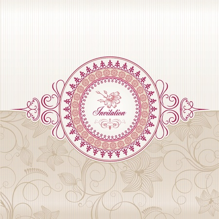 flower card: Wedding invitation card