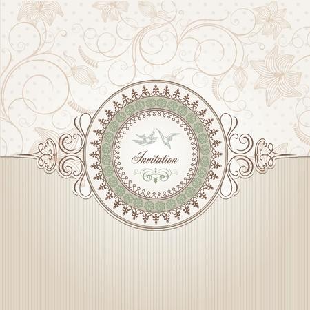 invitacion boda vintage: Plantilla de fondo Vintage  Vectores