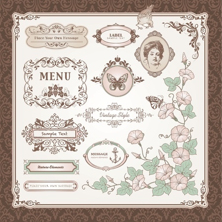 Collection of vintage elements