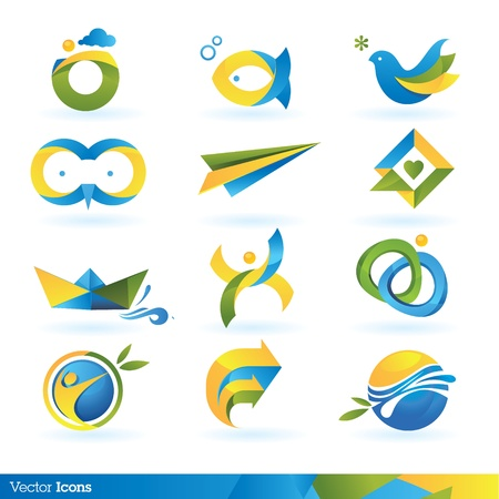 symbol tourism: Icon design elements  Illustration