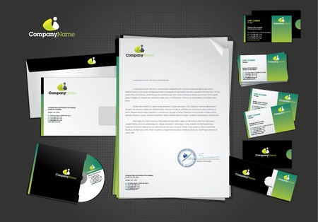 Stationary and icon design template Illustration