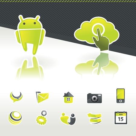 Icon design elements Stock Vector - 10564210