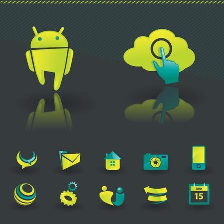 Icon design elements Stock Vector - 10564209