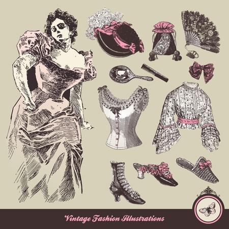 Vintage Mode - Kleidung und Accessoires-Kollektion