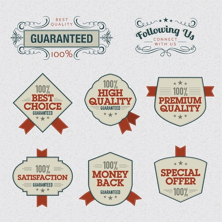 premium quality: Set of Premium Quality Labels