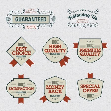 percent sign: Set of Premium Quality Labels